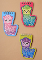 Children's glitter Alpaca spiral notebook (Code 3572)